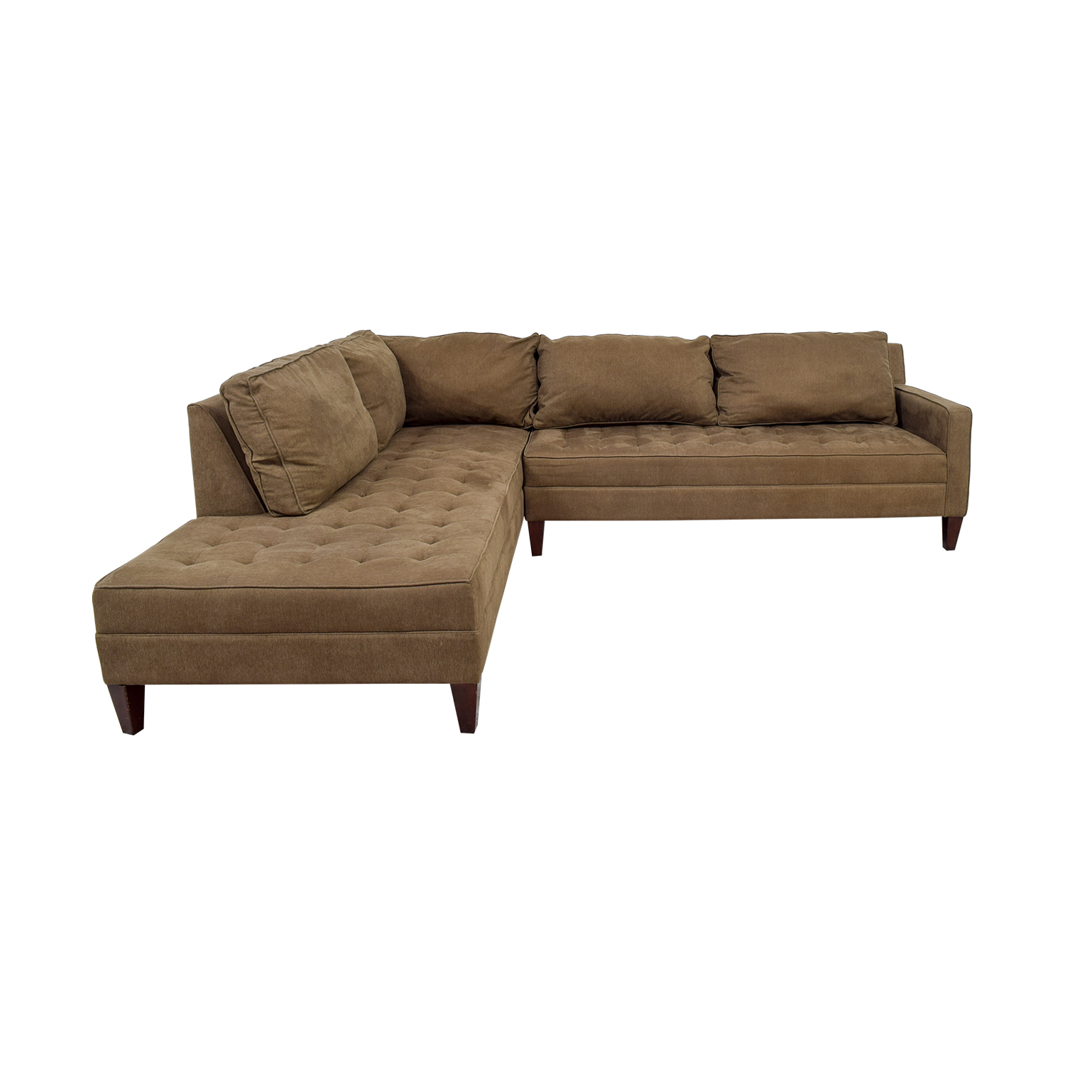 pottery barn chaise sofa sectional deep seating sectionals used for sale