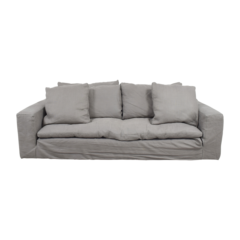 restoration hardware sectional sofa linen stainless steel frame sofas cabinets matttroy