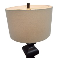 50% OFF - Brown & Tan Table Lamp / Decor