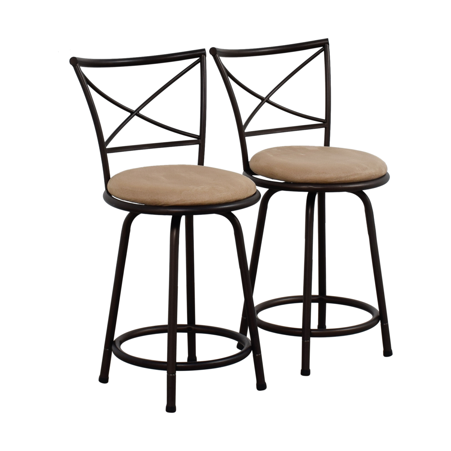 stool chair big w chaise lounge chairs for outside 71 off lots tan cushioned swivel barstools