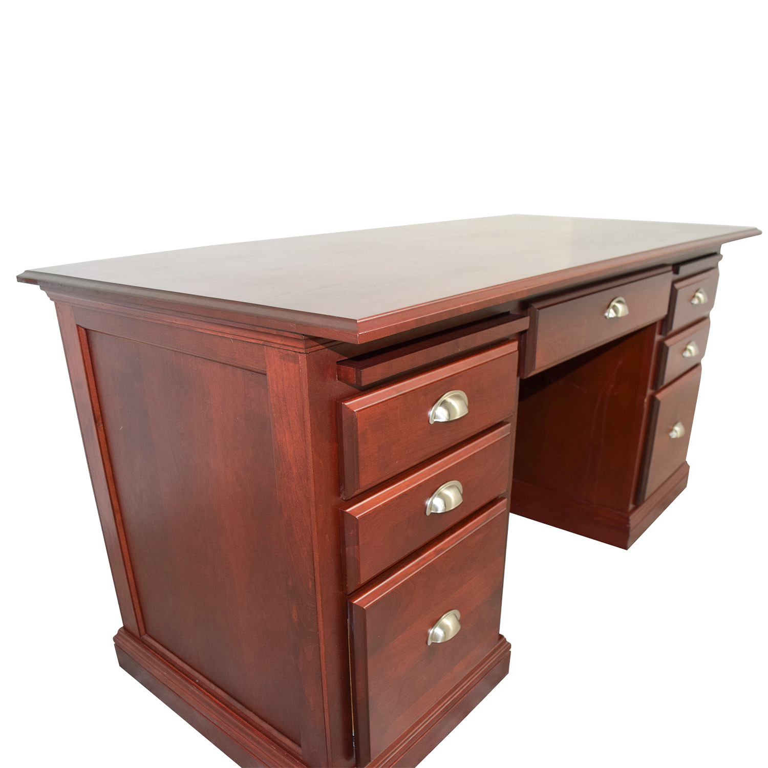88 OFF  Woodcraft Woodcraft Custom Cherry Executive Desk