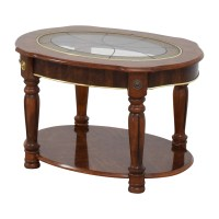 85% OFF - Vintage Small Round Coffee Table / Tables