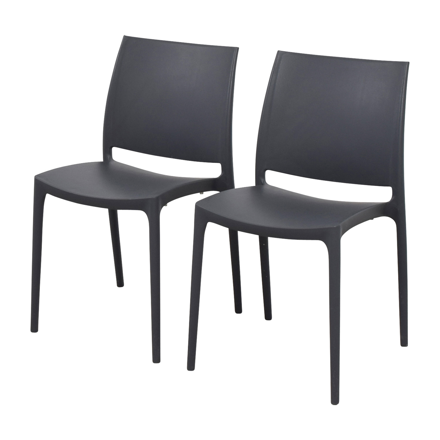 plastic molded chairs oversized folding quad chair 87 off grey