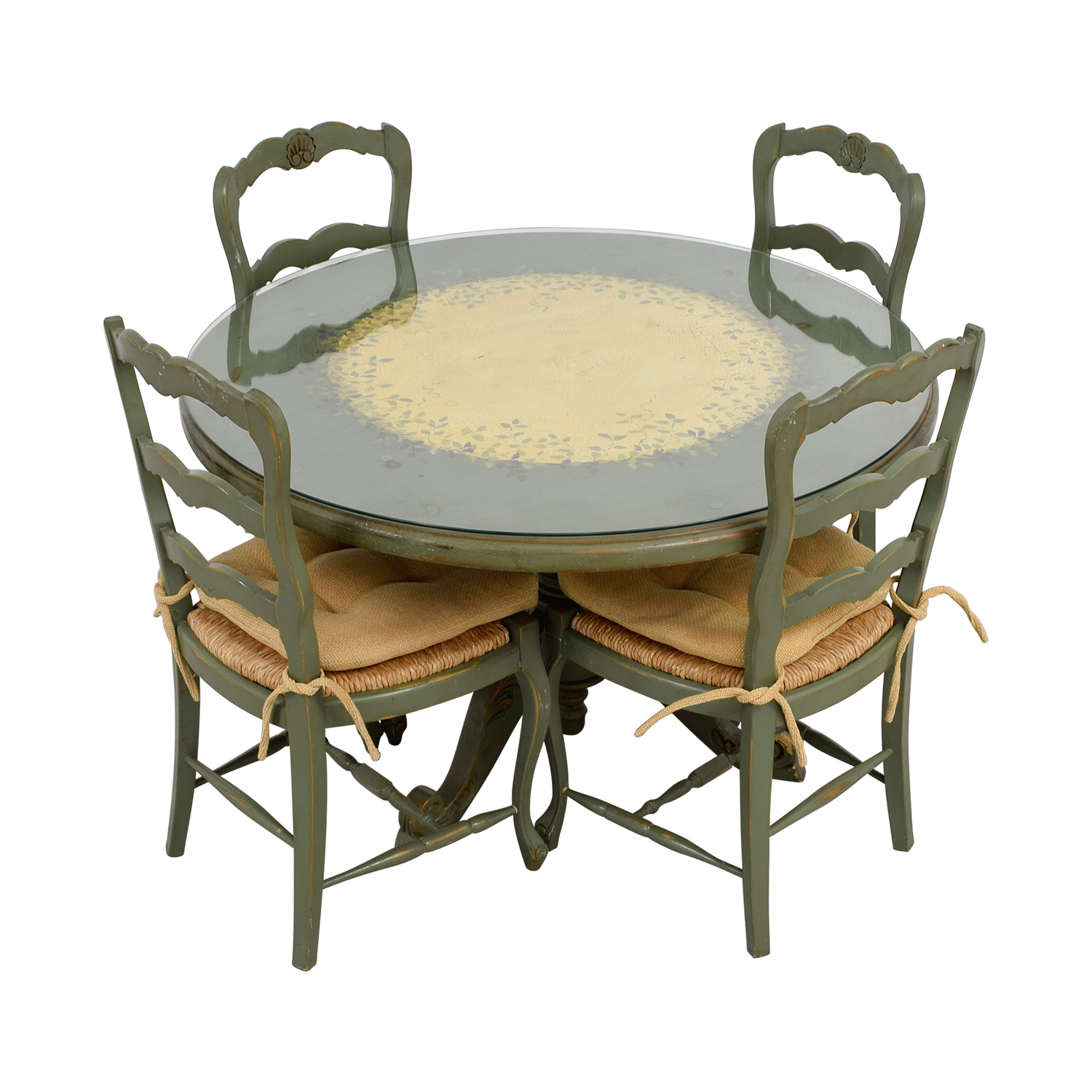used kitchen chairs ergonomic chair evaluation form 88 off hand painted country style table and