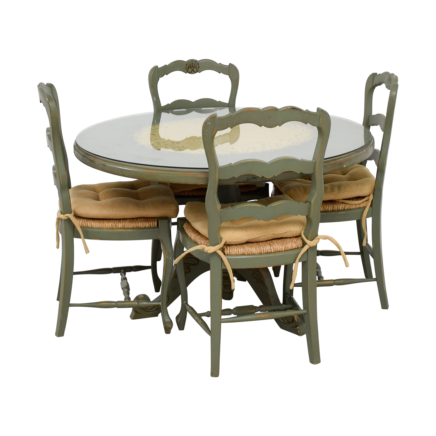 used kitchen chairs how much does it cost to reupholster a chair 88 off hand painted country style table and