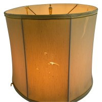 77% OFF - Mid Century Vintage Gold Table Lamp / Decor