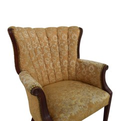 Antique Accent Chair Sling Back Lounge Chairs 87 Off Indigo Yellow Wingback