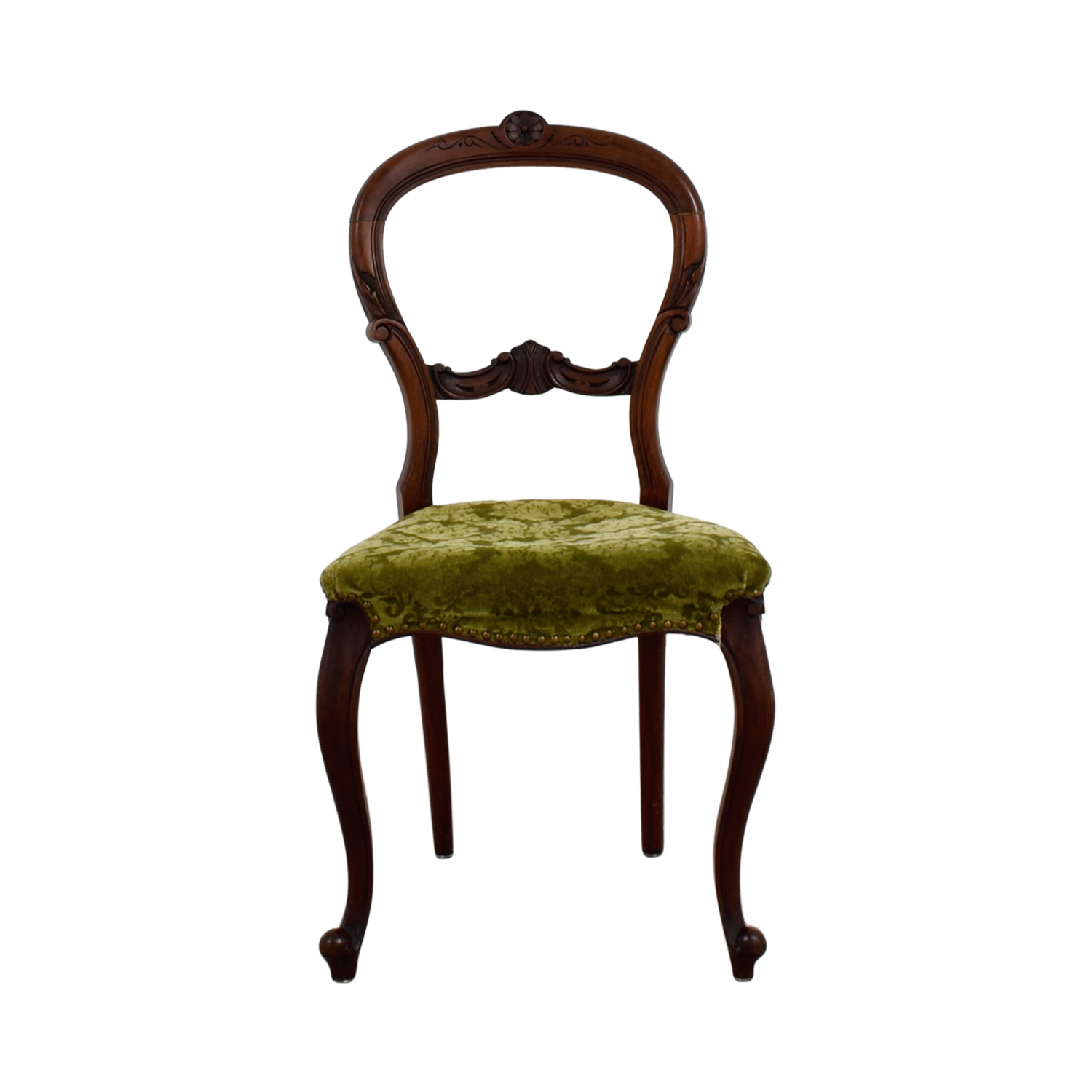antique wood chair chiavari alternative 90 off green velvet chairs coupon
