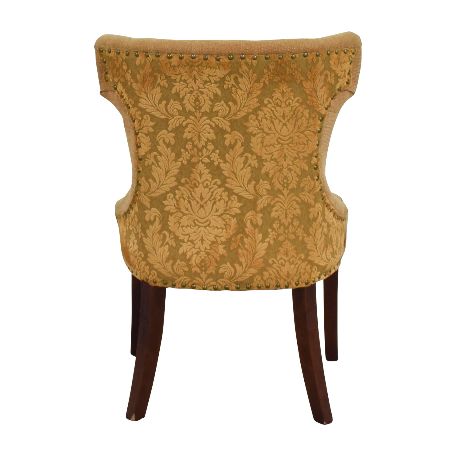 pier 1 accent chairs king kong massage chair 58 off custom beige upholstered semi round buy