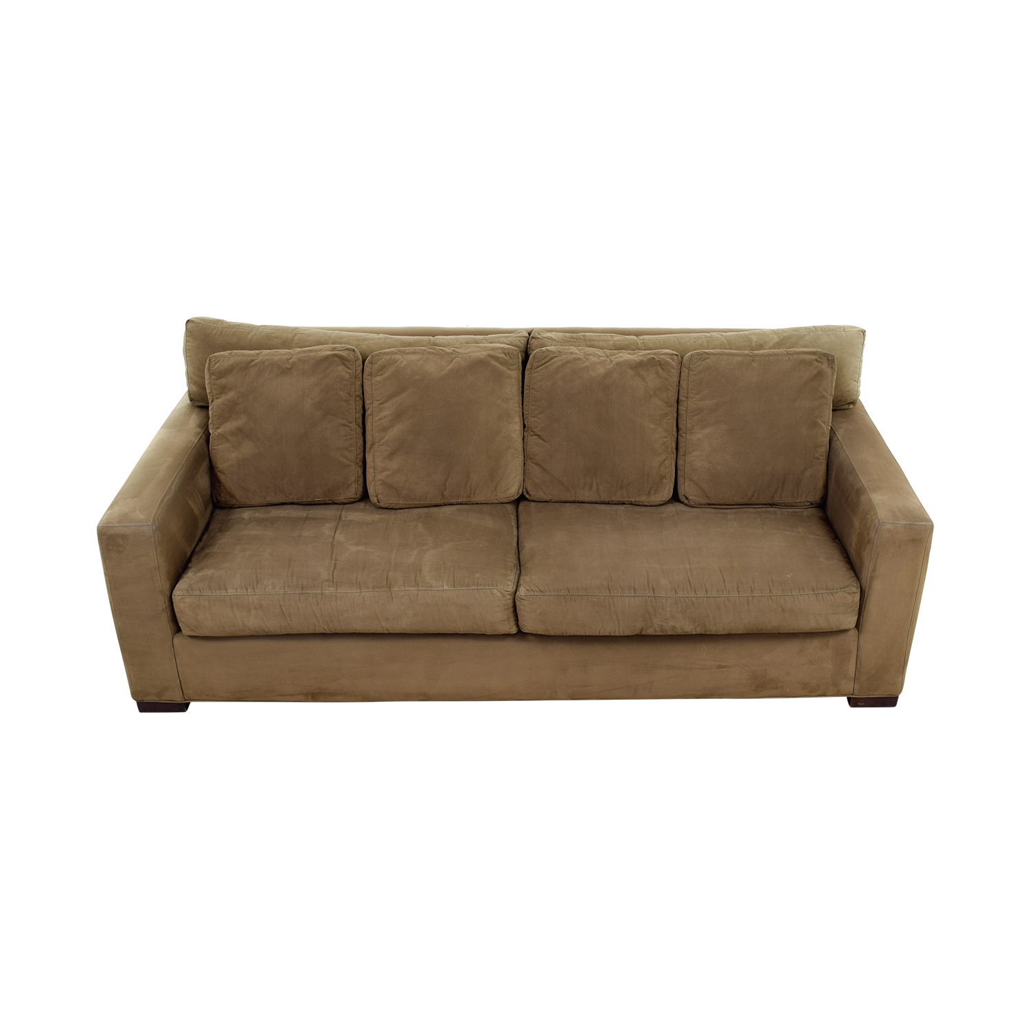 crate and barrel sofa cushion replacement modular sofas for small spaces 48 off rooms to go beige three