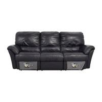 Natuzzi Black Leather Recliner Sofa | www.Gradschoolfairs.com