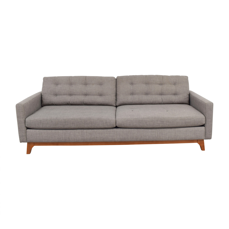sofas at macys jennifer sleeper reviews 45 off macy s mid century karlie grey tufted sofa second hand