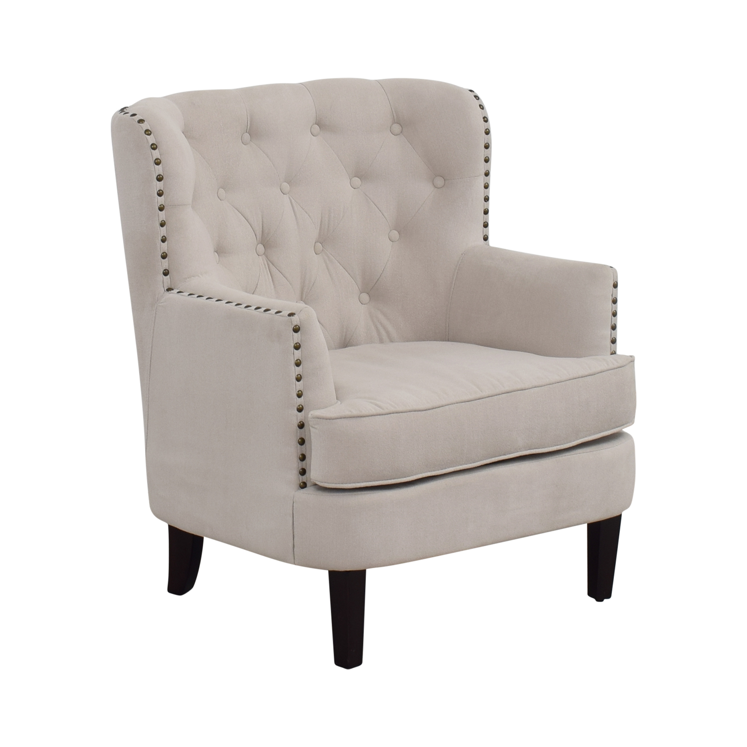 Used Wingback Chairs 55 Off West Elm West Elm Chrisanna Beige Tufted