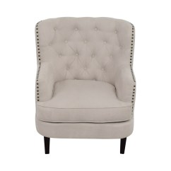 Tufted Nailhead Chair Covers In Johannesburg 55 Off West Elm Chrisanna Beige