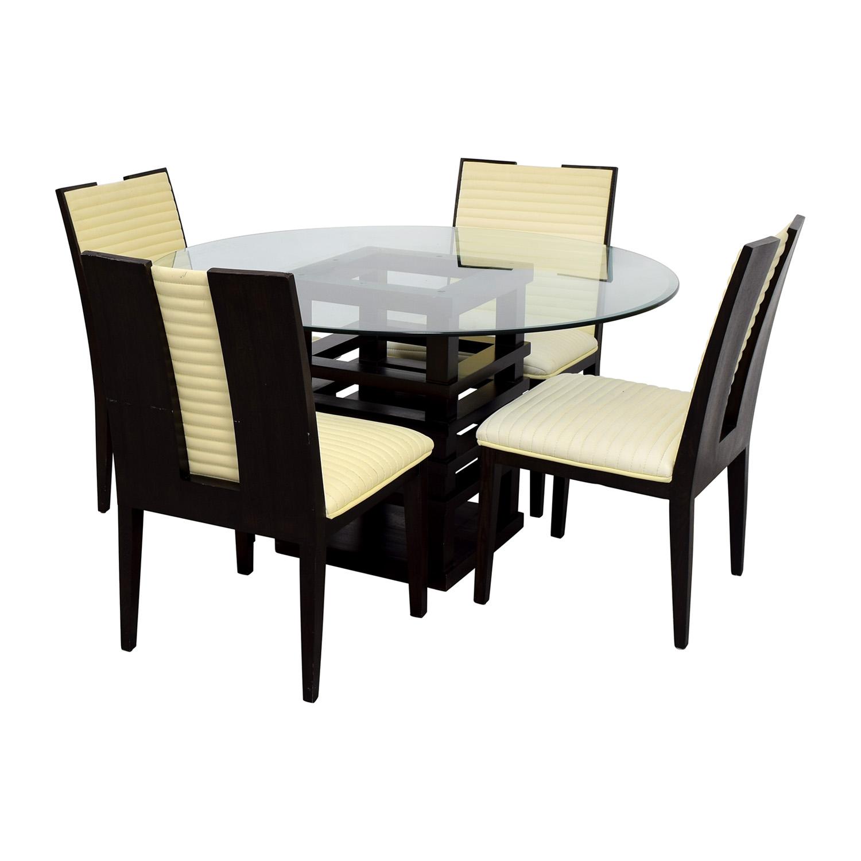 z gallerie office chair velvet uk 90 off black and glass dining set