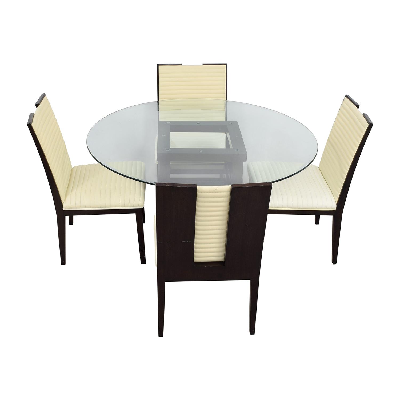 z gallerie office chair fleur de lis rocking 90 off black and glass dining set