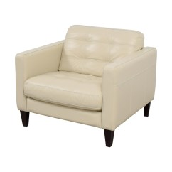 White Tufted Chair Rubber Mat For Hardwood Floors 48 Off Macy 39s Milano Leather Accent