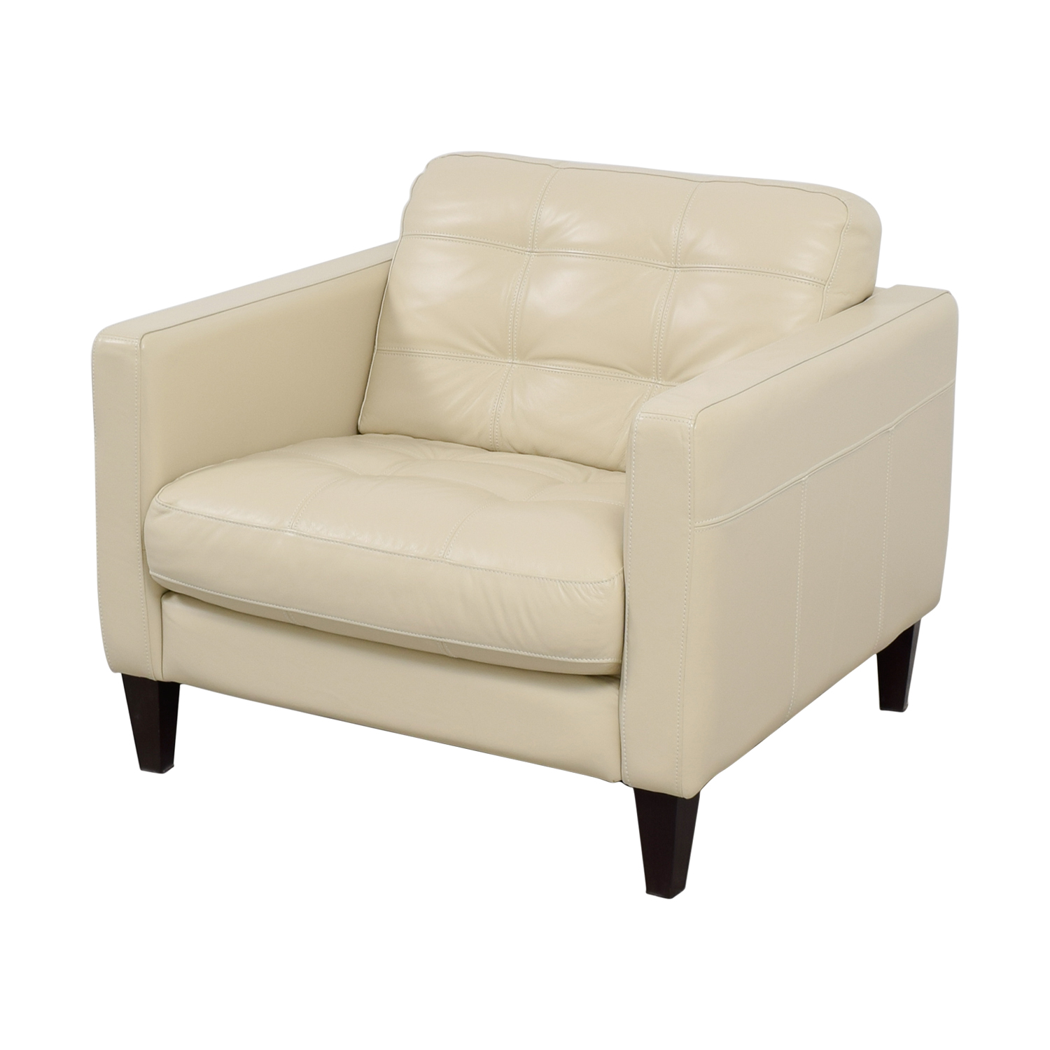 Macys Leather Chair 48 Off Macy 39s Macy 39s Milano White Leather Tufted Accent