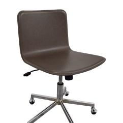Grey Leather Desk Chair Ergonomic Setup 83 Off Cb2 Adjustable Office On
