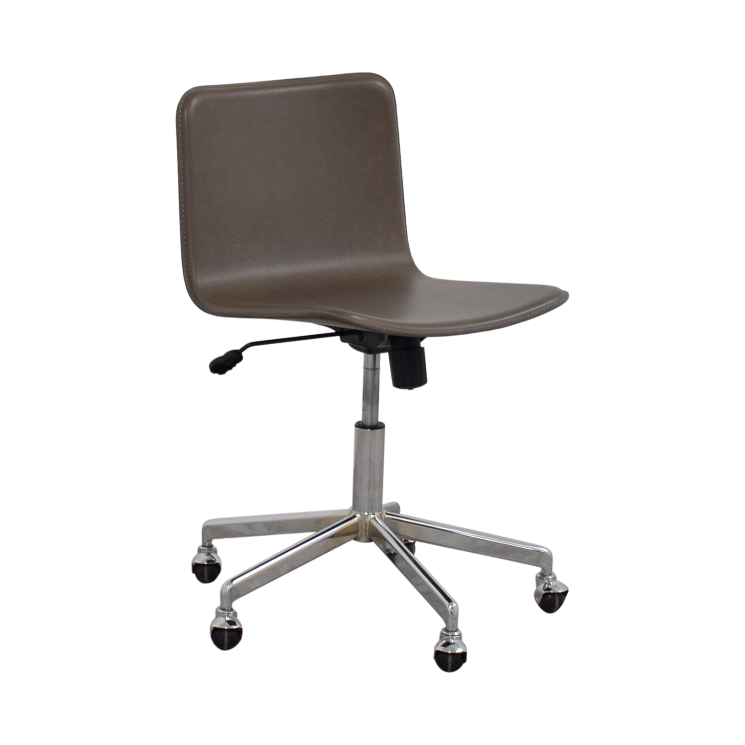 grey leather desk chair power chairside end table 83 off cb2 adjustable office on
