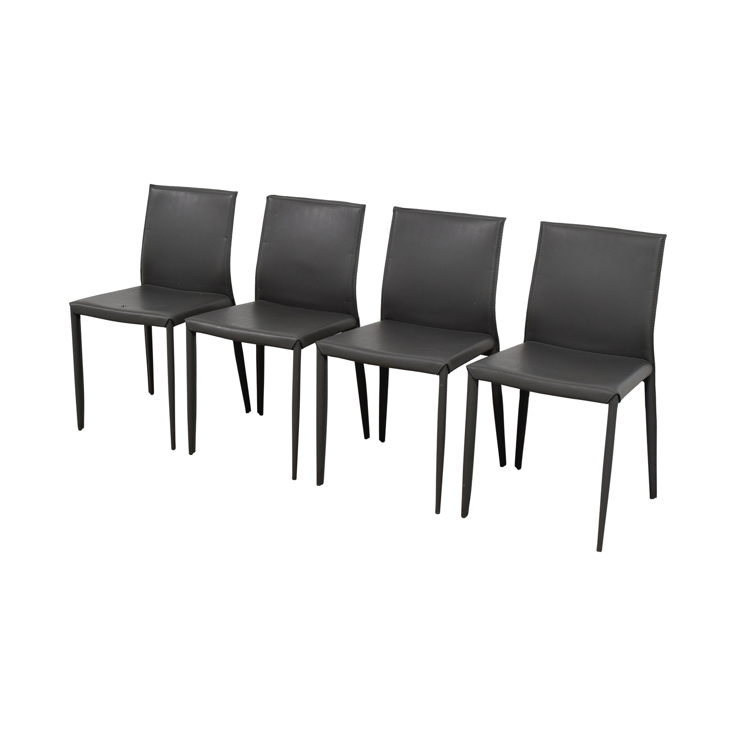 room and board chair dining leather 75 off grey