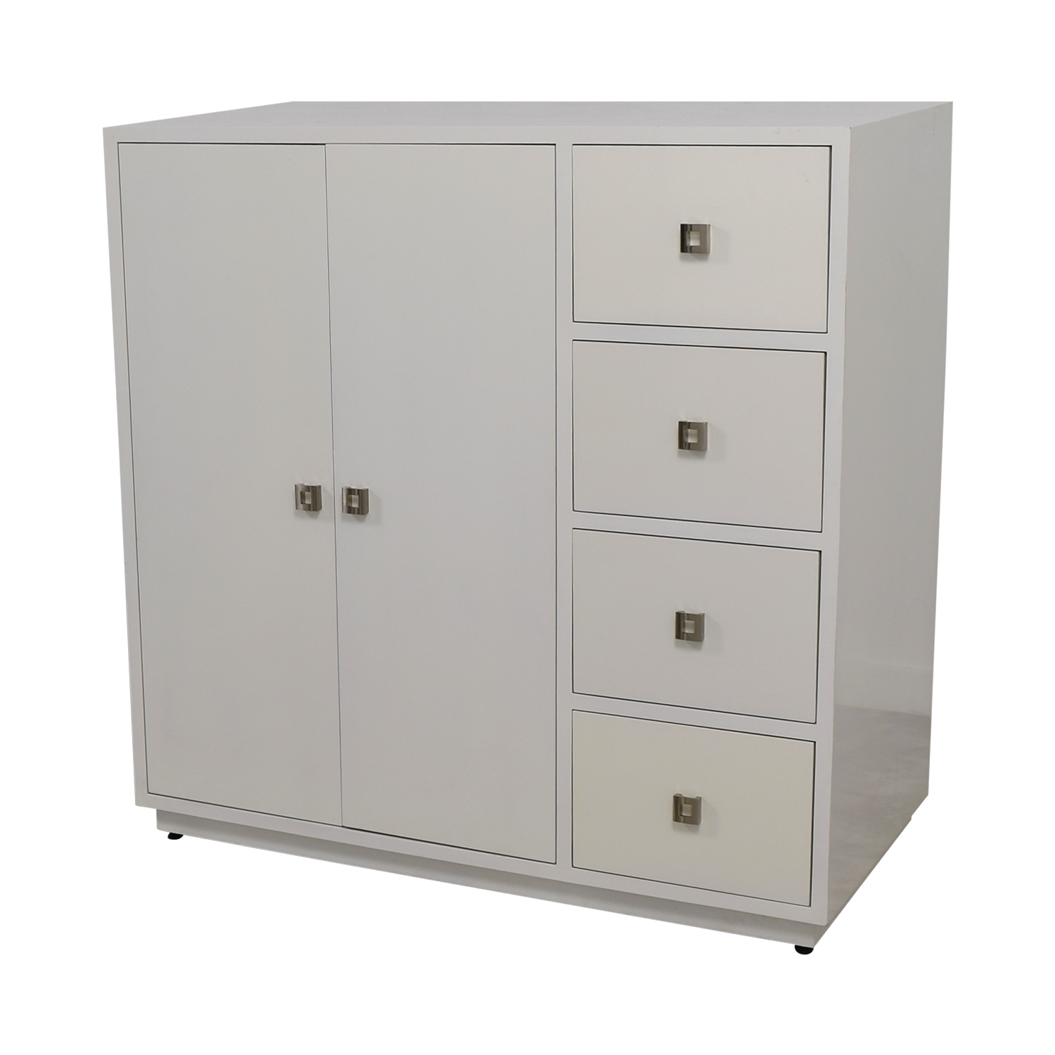 90 OFF  Custom White Lacquer Cabinet  Storage
