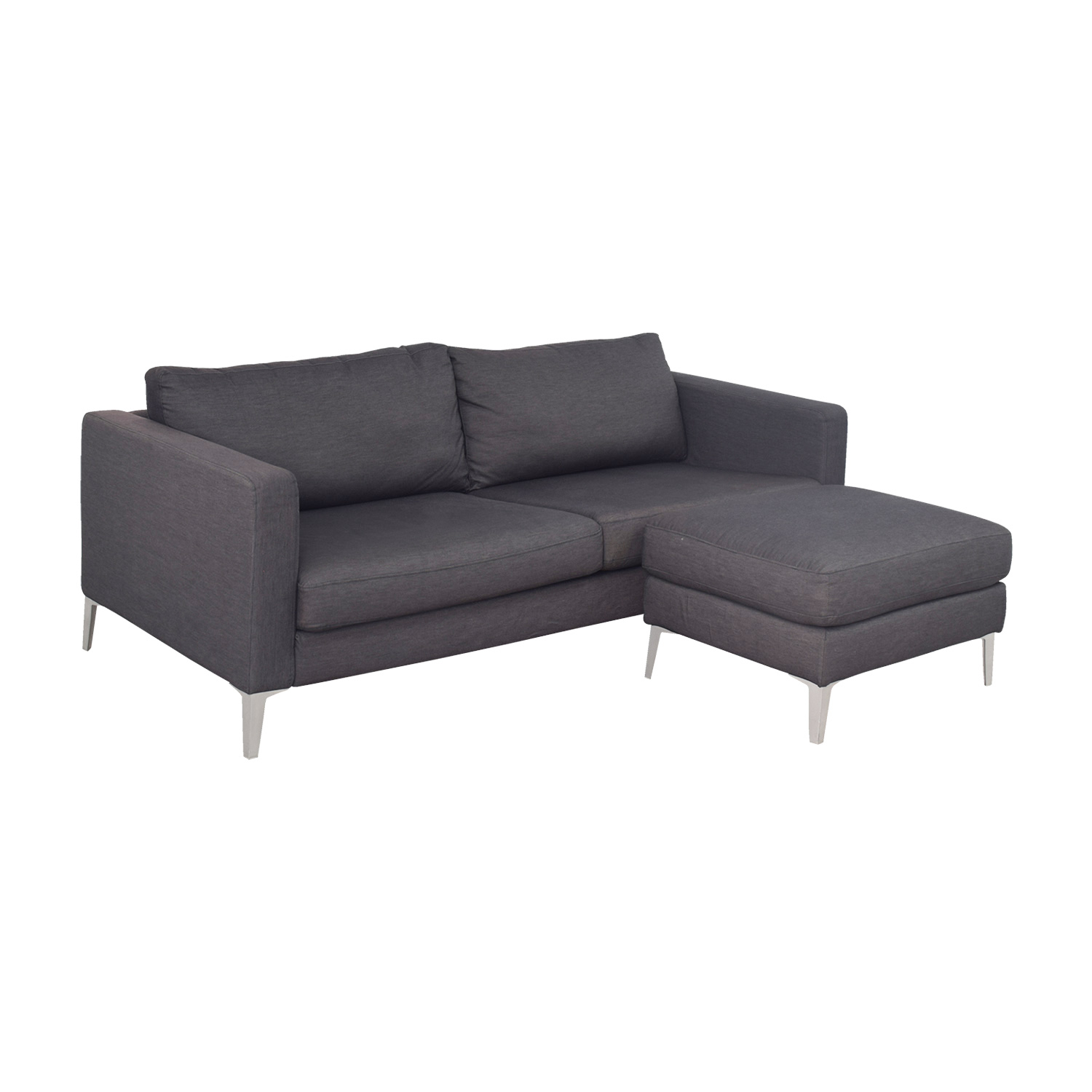 grey sofa table ikea distressed brown leather corner 44 off karlstad couch and ottoman sofas
