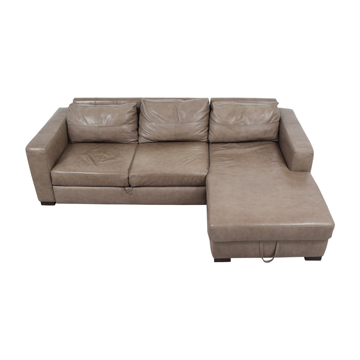 arhaus leather sofa memory foam topper sofas used for sale