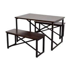 Ashley Furniture Kitchen Tables Recycled Glass Countertops 88 Off Wood And Metal