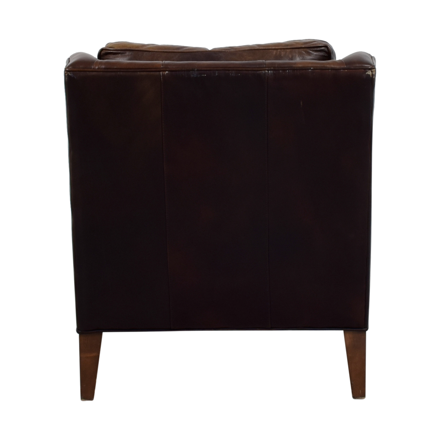 leather dining chairs pottery barn chair covers for sale uk 62 off brown armchair
