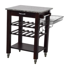 Marble Top Kitchen Cart Pan Hanger 82 Off Home Goods And Wood Base