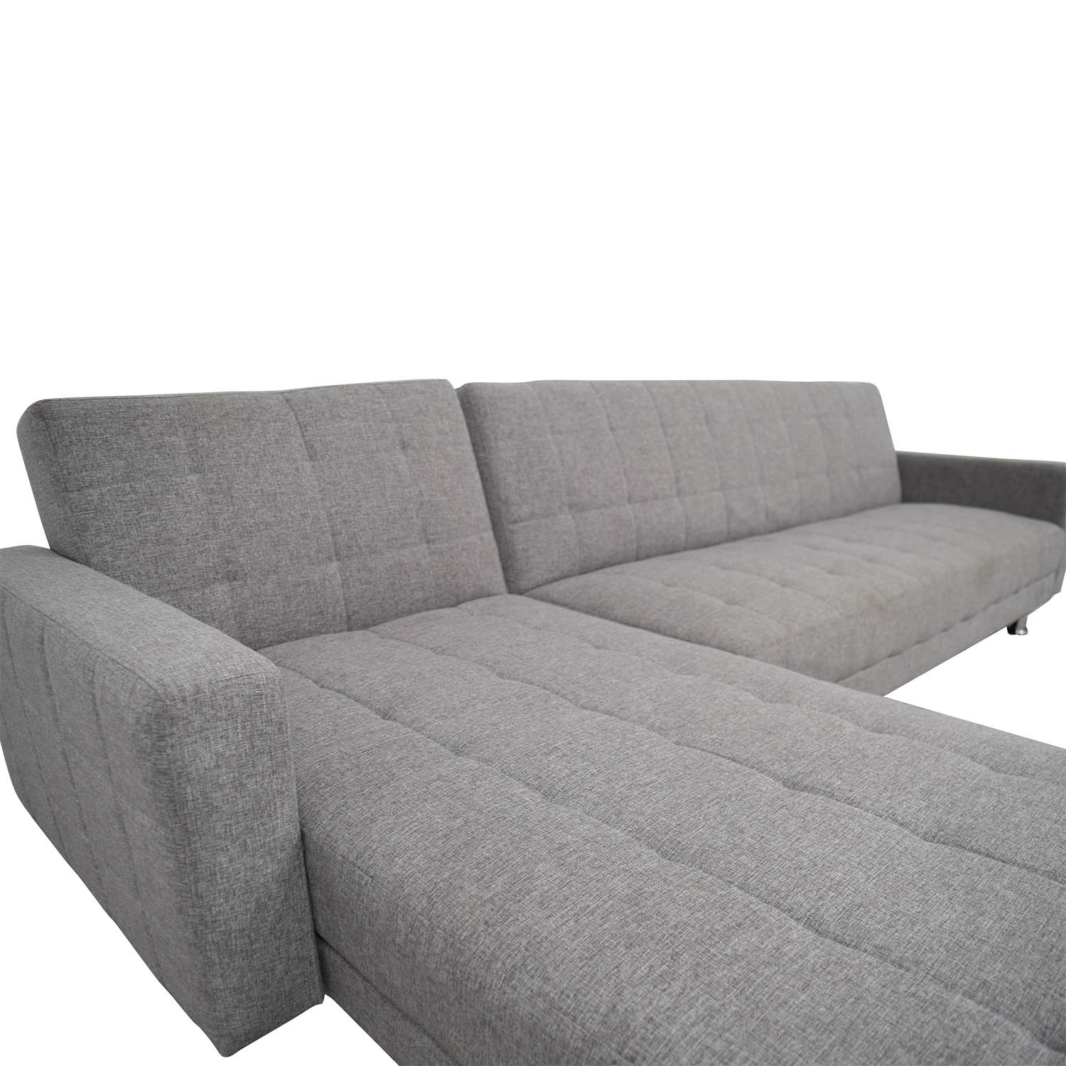 47 OFF  Grey LShaped Sectional  Sofas