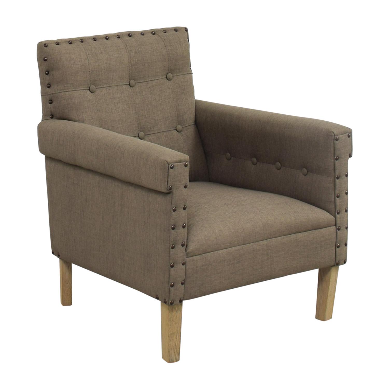 grey club chair buy covers cheap 90 off safavieh craig nailhead