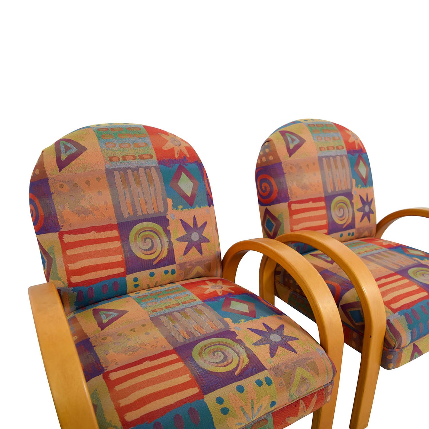 Multi Colored Accent Chairs 90 Off Lazy Boy Lazy Boy Multi Colored Club Chairs Chairs