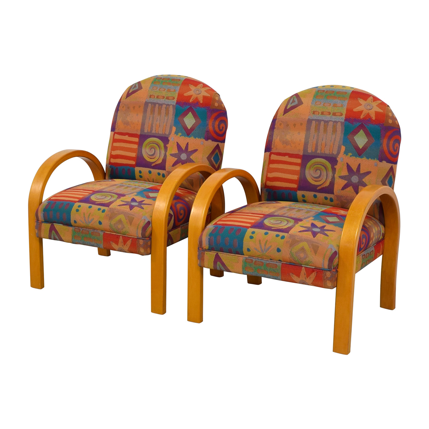 90 OFF  Lazy Boy Lazy Boy MultiColored Club Chairs  Chairs