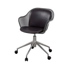 Grey Leather Desk Chair Folding Massage 90 Off B And Italia