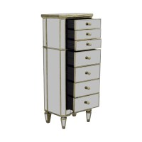 47% OFF - Horchow Horchow Mirrored Seven-Drawer Tall Chest ...