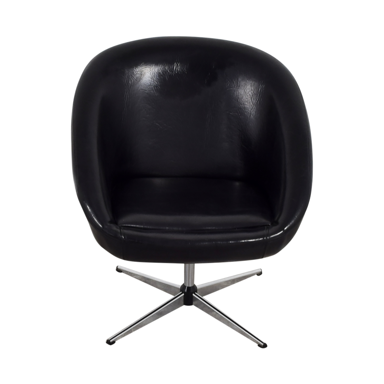 revolving chair second hand childrens wicker rocking 75 off by design modern black