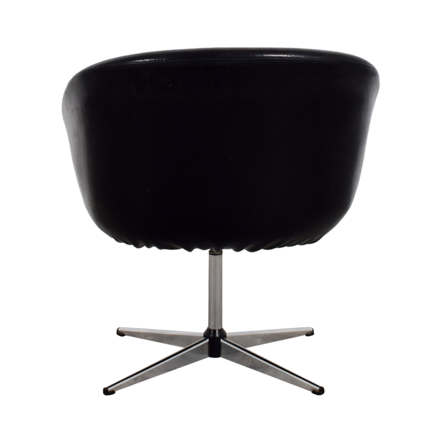 revolving chair used covers kmart 66 off inmod jacobsen orange egg chairs by design modern black nj
