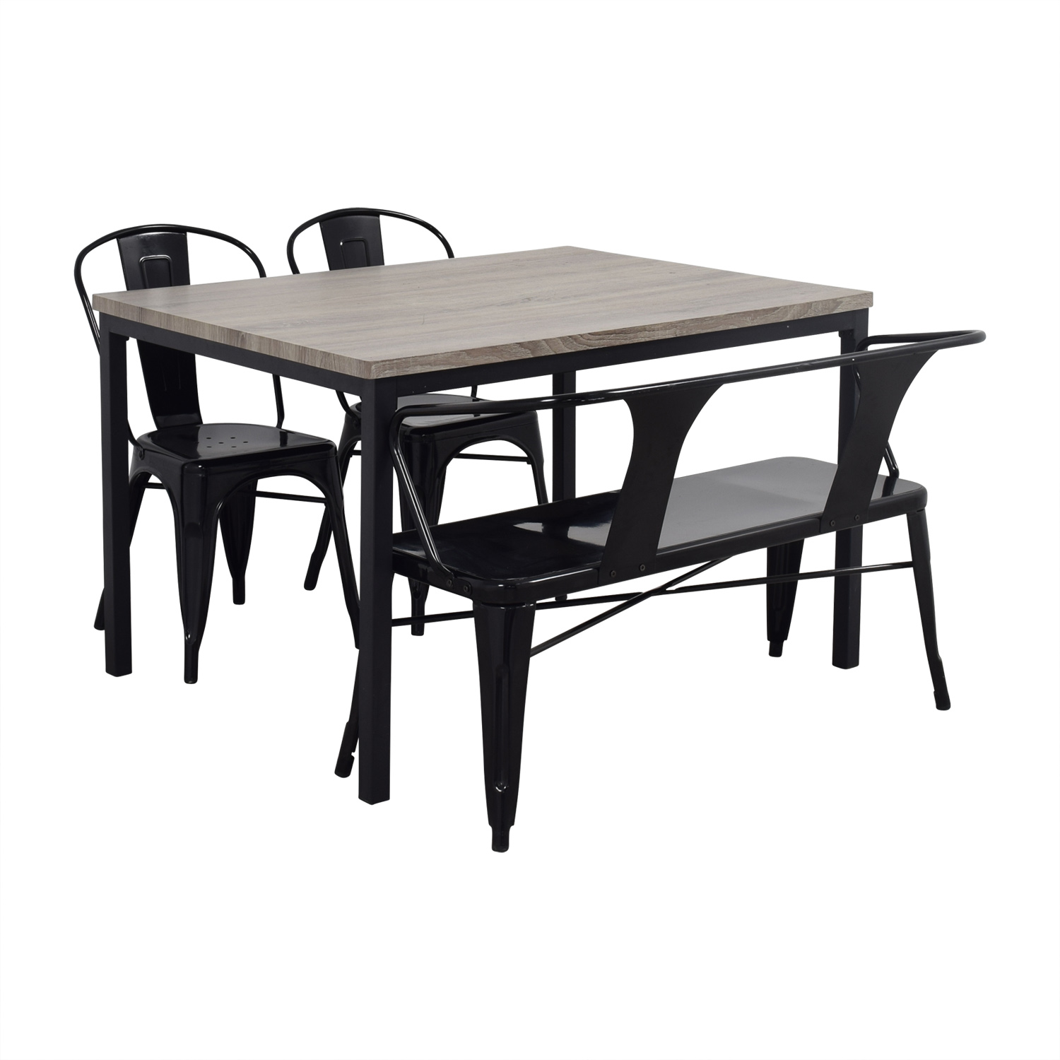 Dining Table With Bench And Chairs 53 Off Grey Dining Table Set With Chairs And Bench Tables