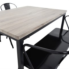 Dining Set With Bench And Chairs Room Fabric 53 Off Grey Table Tables