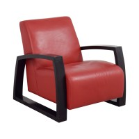 87% OFF - Cantoni Cantoni Red Leather Accent Chair / Chairs