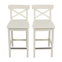 63% OFF - IKEA IKEA White Bar Stools / Chairs