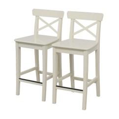 Ikea Bar Chair Narrow Wheelchair 63 Off White Stools Chairs