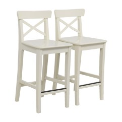 Ikea Bar Chair Full Grain Leather And Ottoman 63 Off White Stools Chairs