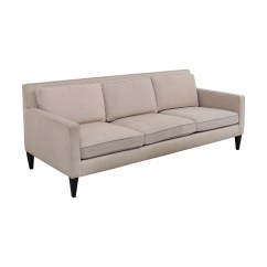 Crate And Barrel Sofa Cushion Replacement Chester Leather Beds 77 Off Rochelle Beige