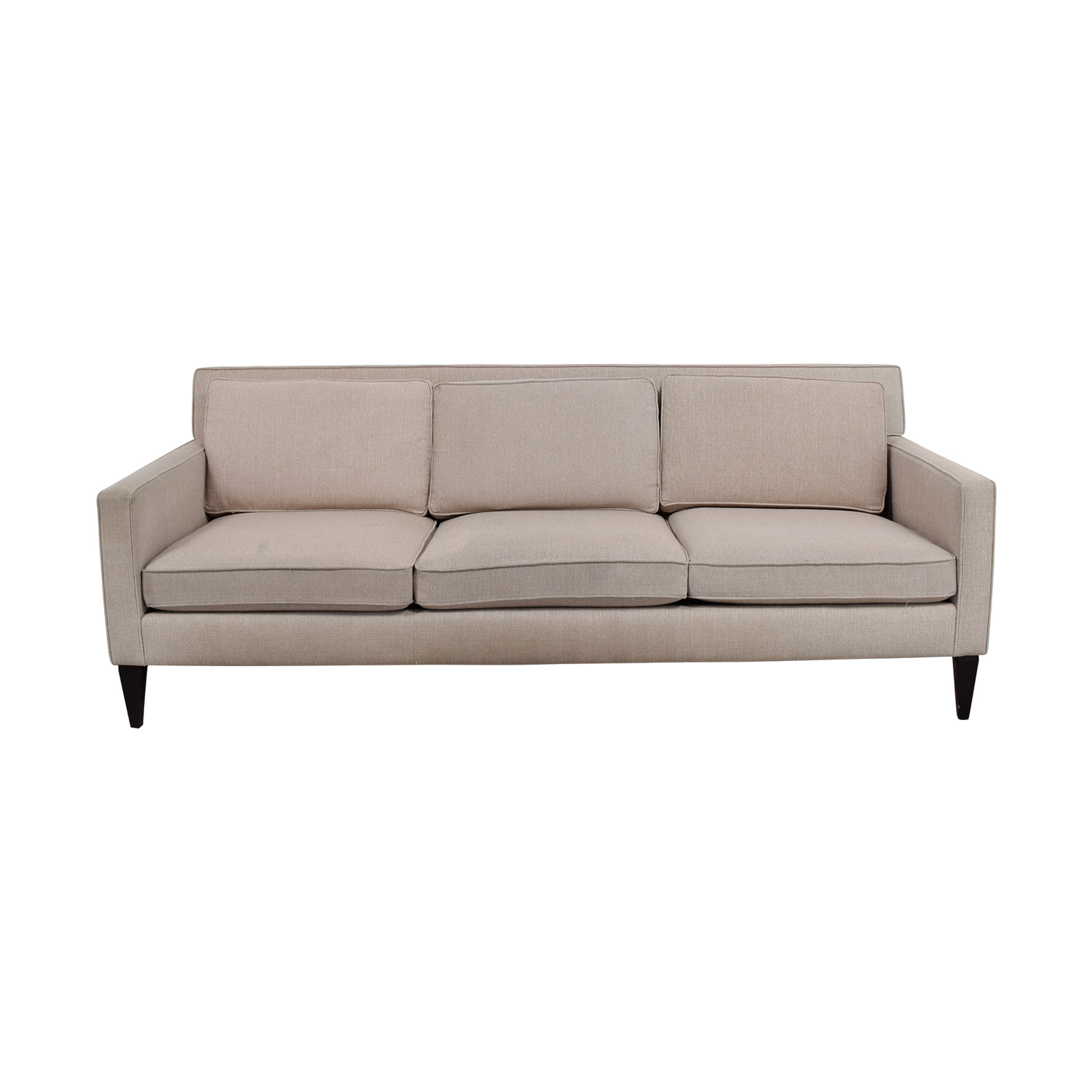 crate and barrel sofa cushion replacement leather corner furniture village three sofas slipcovers home