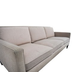 Crate And Barrel Sofa Cushion Replacement 3 Piece Modern Grey Microfiber Reversible Sectional With Large Ottoman 77 Off Rochelle Beige