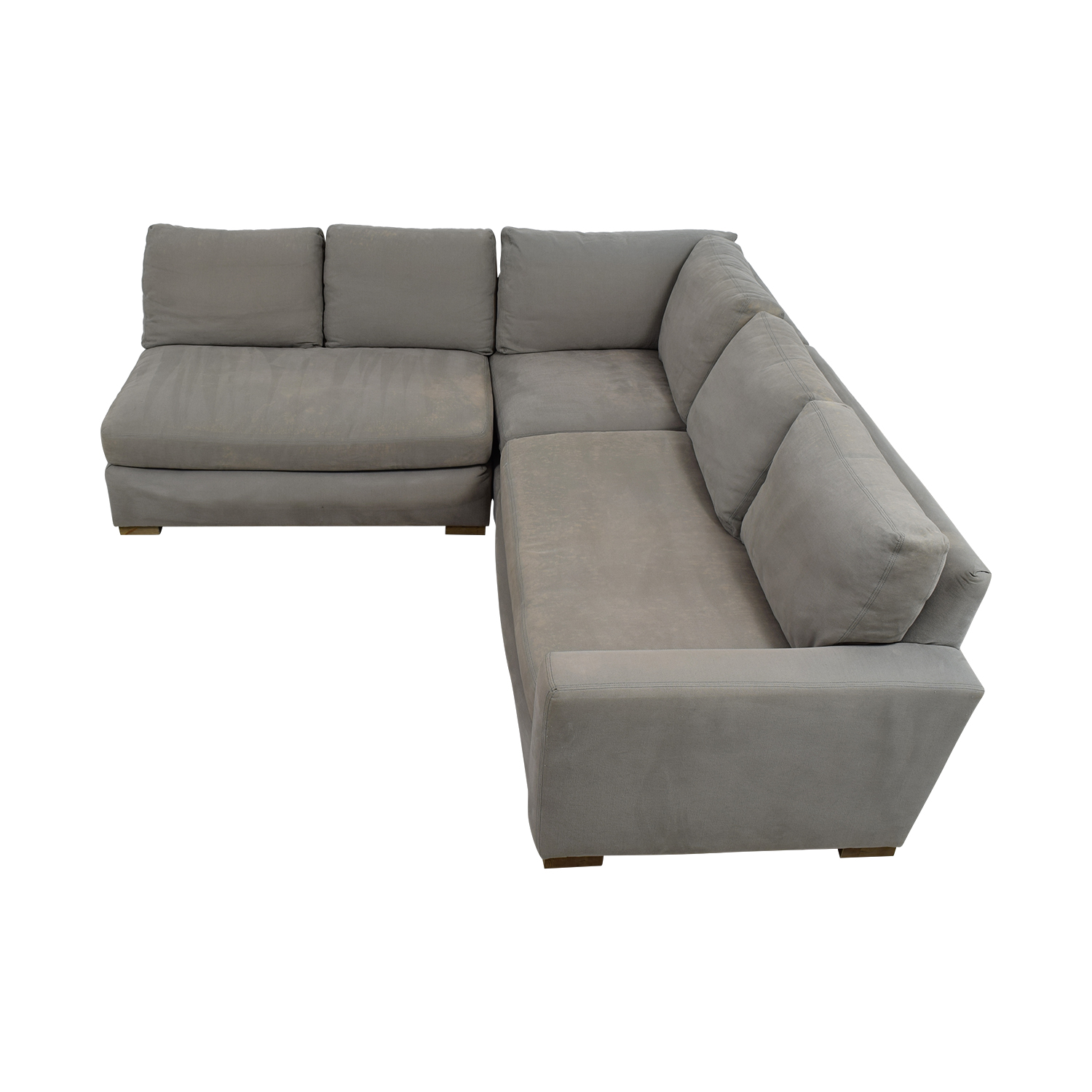 77 OFF  Restoration Hardware Restoration Hardware Grey LShaped Sectional  Sofas
