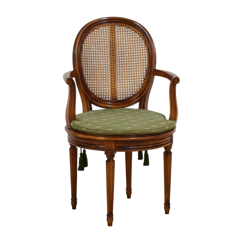 swivel arm chairs chiavari gold 90 off reproduction green four leaf clover chair nj